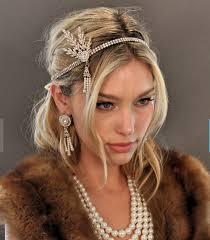 great gatsby headband gold great gatsby headband bracelet necklace set downtown