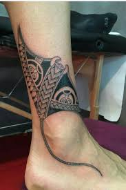 sting ray tattoo polynesian tribal tattoo of stingray above ankle tattoos
