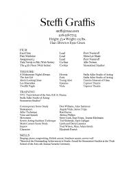 Acting Resumes With No Experience Child Actor Resume Sample Child Model Resumes Template How