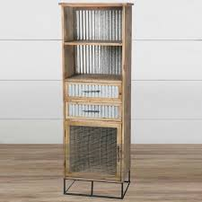 Tall Metal Storage Cabinet Tall Wooden Storage Cabinet Organizer With Corrugated Metal