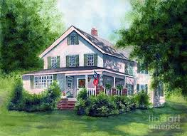 country farmhouse white country farmhouse painting by janine riley