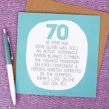 70th Birthday Cards By Your Age Funny 70th Birthday Card By Paper Plane
