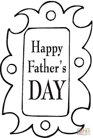 father u0027s day greeting card coloring page free printable coloring
