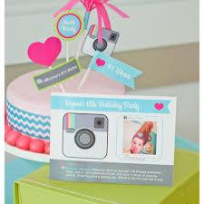 creative handmade instagram birthday invitation and birthday cake