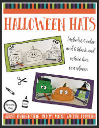 halloween hats color cut and glue your therapy source