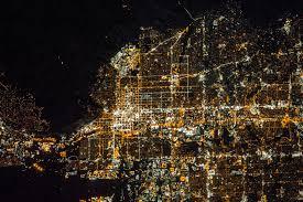 a nighttime view of salt lake city utah nasa