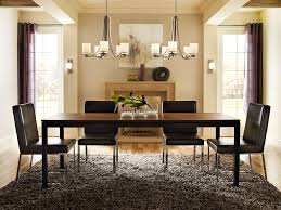 glamorous dining room light equipped long rectangle dining table