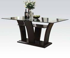 wenge frosted center glass wood wenge frosted center glass wood dining table w rectangle shape
