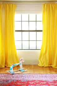 Yellow White Curtains Diy Yellow Curtains For The Playroom Green Notebook