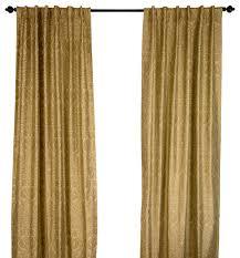 Sage Green Drapes Silk Dupioni Gold Print Sage Green Curtain Panel Contemporary