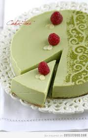 matcha white chocolate cheesecake one day i will have an invite