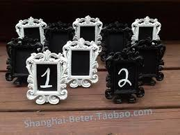 silver frames for wedding table numbers white or black mini chalkboard table number frames elegant wedding