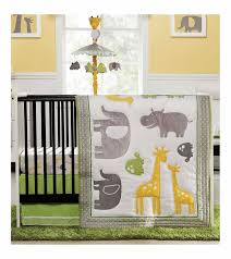 Yellow And Grey Baby Bedding Sets by Carter U0027s Zoo Animals 4 Piece Crib Bedding Set