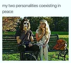 Peace Meme - my two personalities coexisting in peace meme xyz