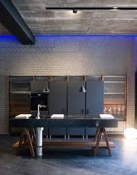 lando kitchen with black marble top and columns lando