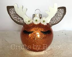 reindeer ornaments reindeer ornament etsy