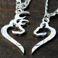 buck and doe couples necklace buck and doe heart couples necklaces only 6 sets left six