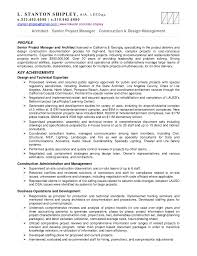Senior Project Manager Resume Sample by Stan Shipley Resume Projects 11mr18