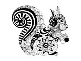 free coloring page coloring zentangle squirrel by bimdeedee