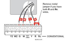 model rth6350 rth6450 series i have existing wires labeled per