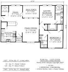 2 bedroom cottage floor plans floor plan bath one floor with garage per design building cabin