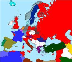 Wwi Europe Map by Full Communist Alternate History Map International Revolution