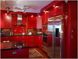 Red Kitchen Decorating Ideas Red Kitchen Cabinets Images Kitchen Decoration