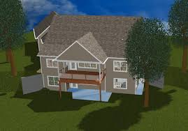 foundation welcome walkout basement in 3d with grass