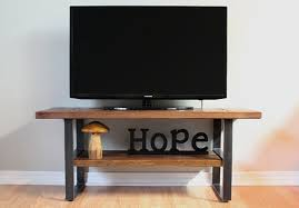 Rustic Tv Console Table Reclaimed Wood Entertainment Center Rustic Tv Stand