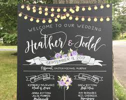Chalkboard Wedding Program Timber And Type