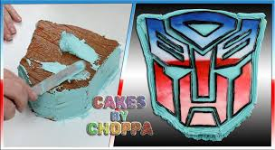 transformer cake transformers autobot logo cake how to