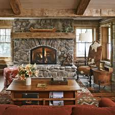 decorations natural textured stone fireplace design with wooden