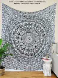 Beach Bedspread Amazon Com Most Wanted Black And White Tapestry Elephant Mandala