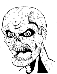 scary halloween coloring pages kids glum