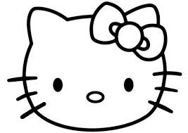kitty face coloring free printable coloring pages