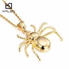 shop kalen dubai gold color spider pendant necklaces