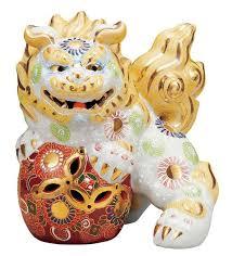 kutani shishi japanese leo shishi lion dog kutani porcelain shiramori