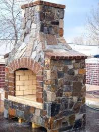 Patio Fireplace Kit by 30 In Firerock Arched Masonry Outdoor Wood Burning Fireplace