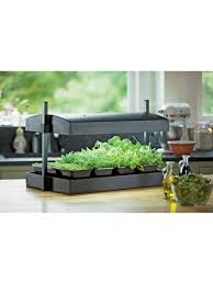 nice looking indoor herb garden kit with light simple design my