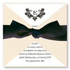 Wedding Invitations With Ribbon Stylish Wedding Invitations Available In 4 Colors