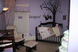 bedroom attractive ideas for baby girl nursery with wall mural appealing nursery room decorating ideas with kailyn decal image wallpaper on light blue wall paint as