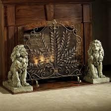 decorative glass fireplace screens