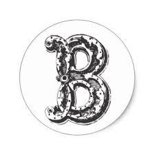 Monogram Letter B Fancy Old Style Font Monogram Letter B Gifts On Zazzle