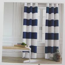 Navy Window Curtains Hilfiger Cabana Stripe Navy Blue Pair Window Curtain Panels