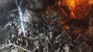 creepy halloween wallpaper dark fantasy evil undead skeleton skull animals horses weapons