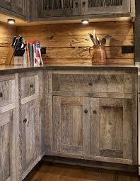rustic wood kitchen cabinets barnwood kitchen by the barnwood cabinet company barn wood