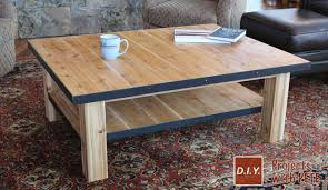 Diy Wood Coffee Table by How To Make A Wood Coffee Table With Steel Accents