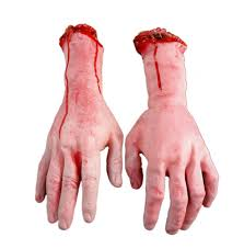 free halloween props 2015 new life size human arm hand bloody dead body parts party