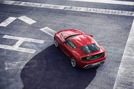 zagato bmw z4 based rosso vivace bmw zagato coupé top view eurocar news