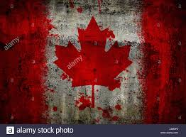 Canada Flag Colors Canada Flag Painted On Old Rusty Metal Background Stock Photo
